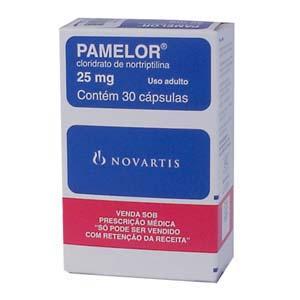 Pamelor (cloridrato de nortriptilina) 25mg, 30 capsulas