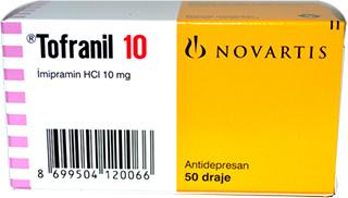 Tofranil 10 (Imipramin HCl 10 mg) Antidepresan 50 draje